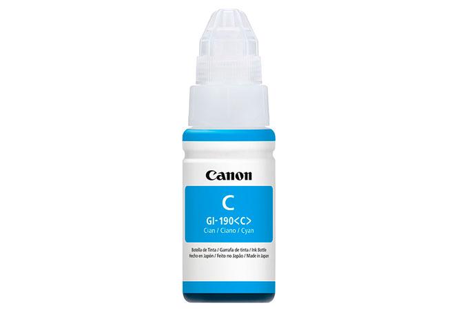 Botella de Tinta Canon Cian GI190 Original 70ML