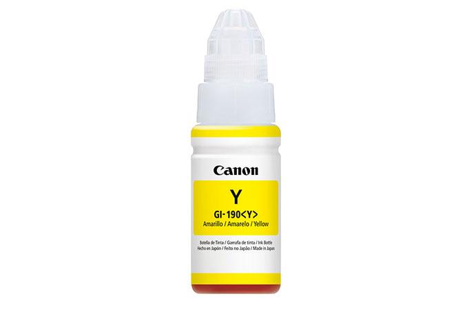 Botella de Tinta Canon Amarillo GI190 Original 70ML