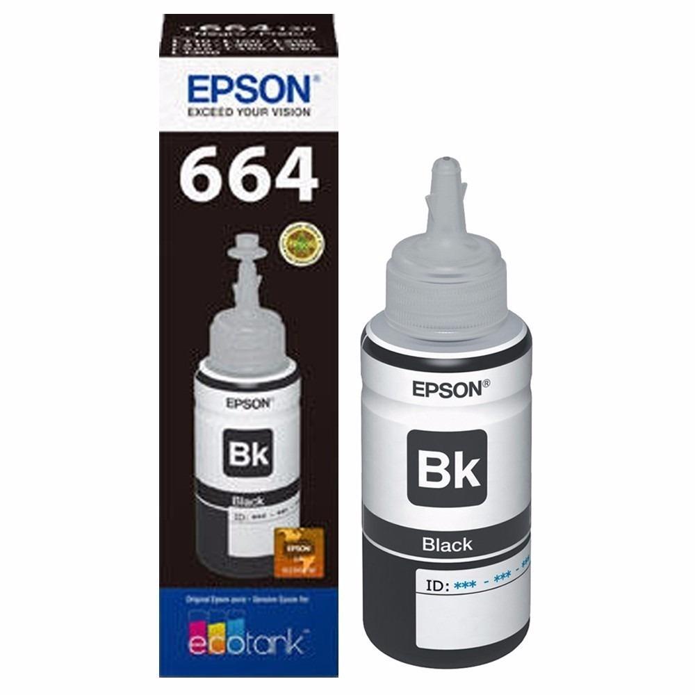 Botella de Tinta Epson Negro T664120 Original